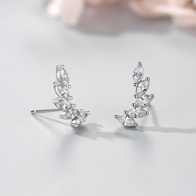 Dazzling Faux Diamond Wing Earrings for Matching Sophisticated Outfits