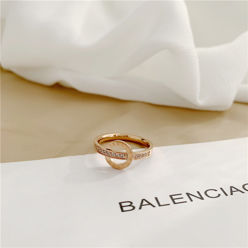 Creative Roman Numeral Ring for Wearing with Casual Attire
