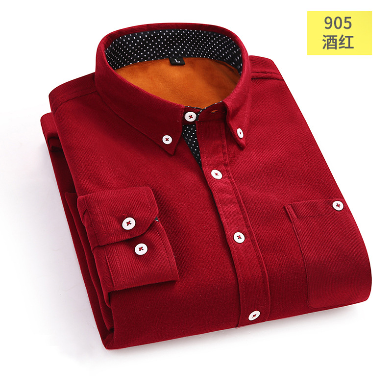 Stylish Button-Down Corduroy Shirt Jacket for Winter Wear