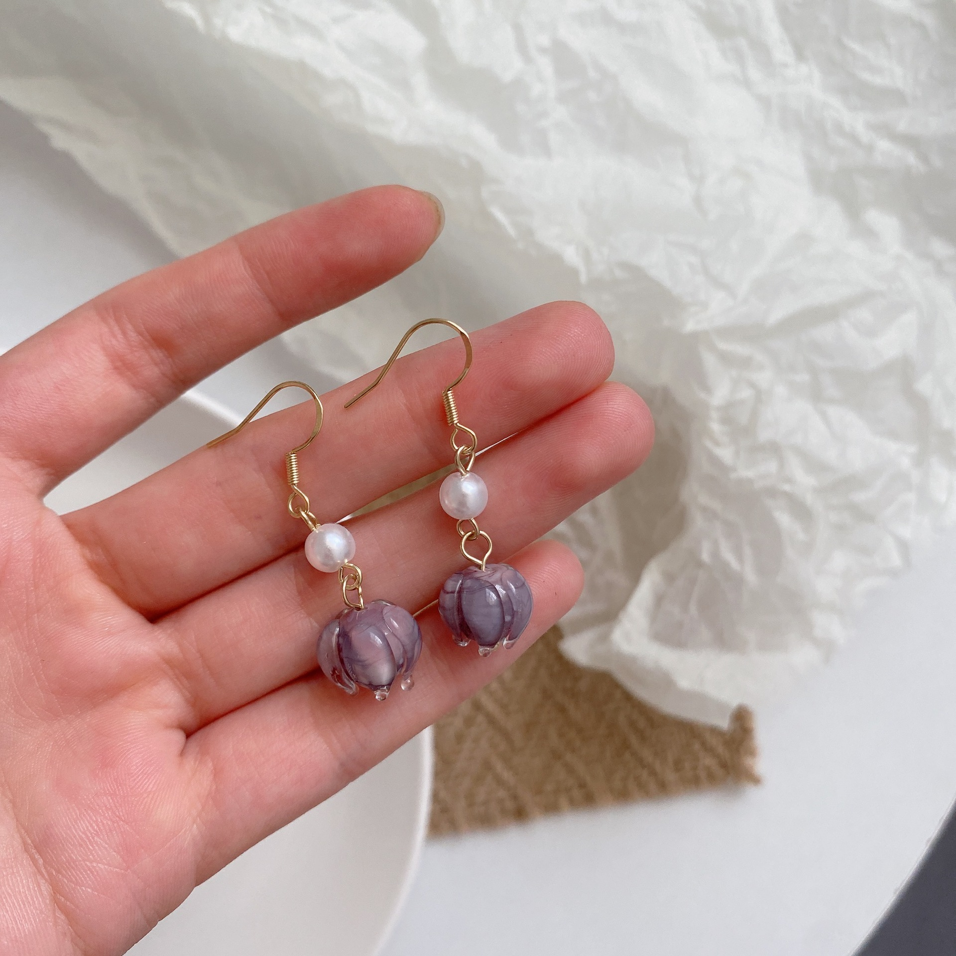 Gorgeous Pearl Colored Earrings for Birthday Gifts