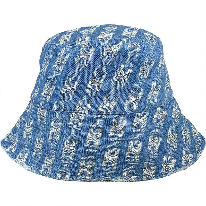 Unisex Printed Denim Bucket Hat for Fishing Activities