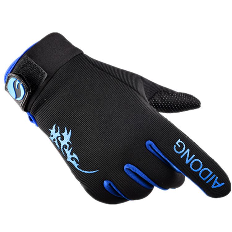 Bi-Color Full Finger Gloves for Men and Women's Sports