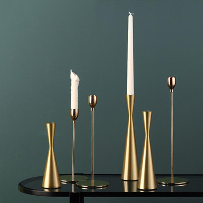 Elegant Metal Candle Holder for Romantic Candlelight Dinner