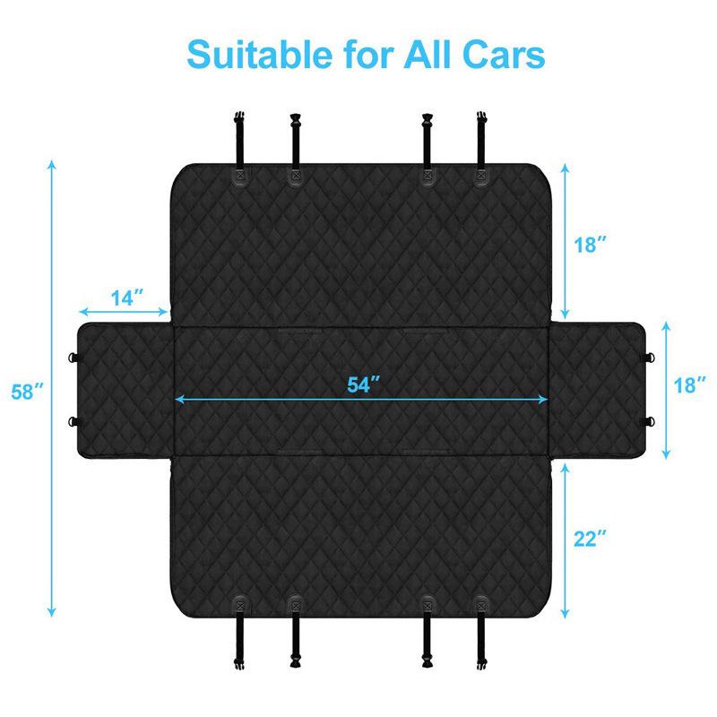 Nice Waterproof Black Car Pet Seat for Road Trip