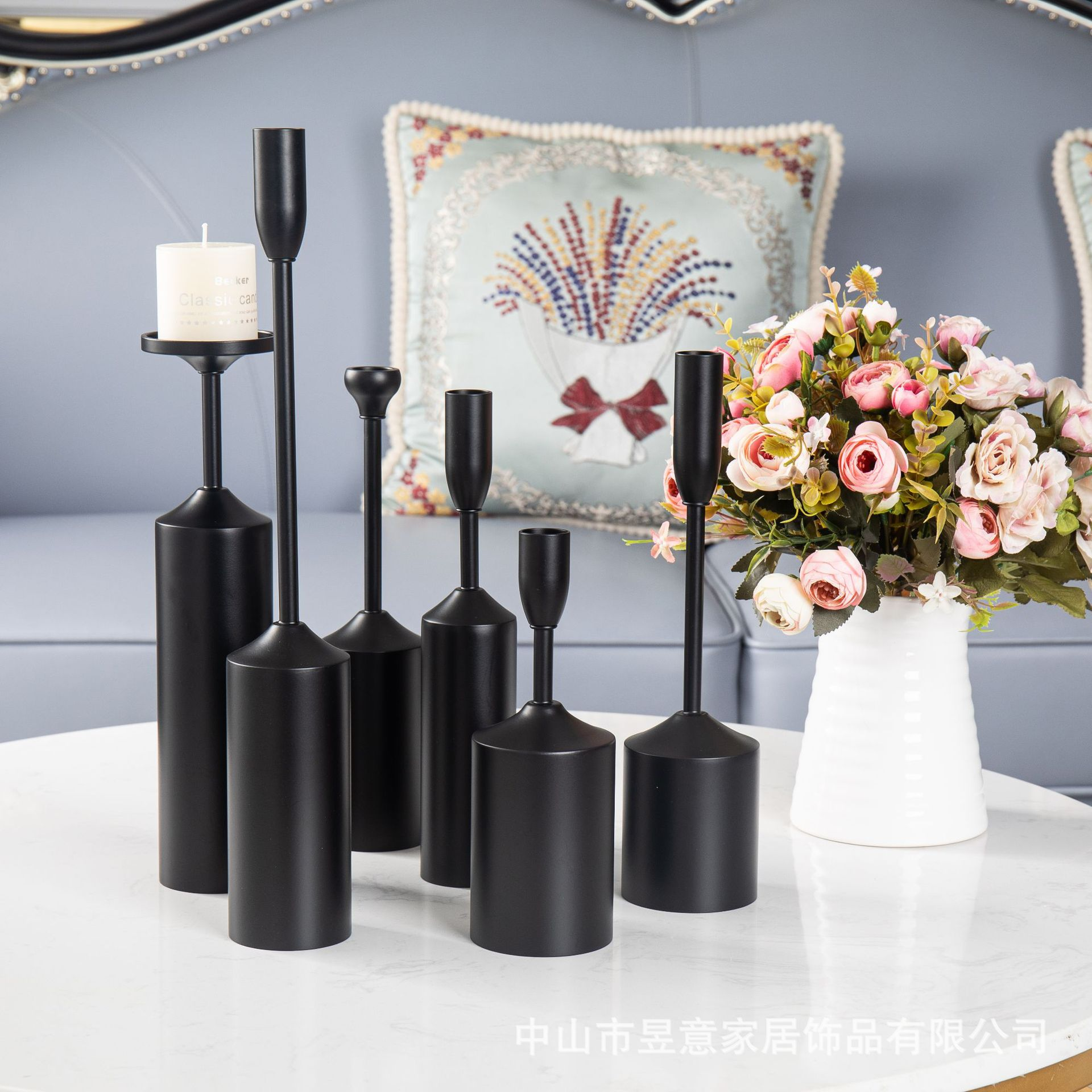 Minimalist Black Candle Holders for Modern Home Décor Inspiration