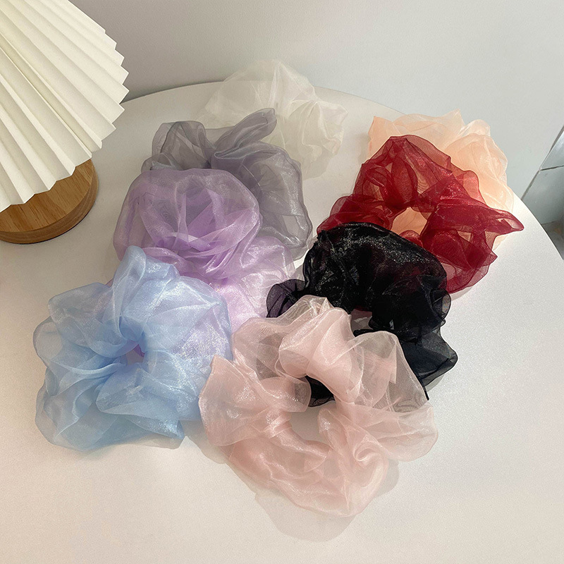Adorable Solid Color Scrunchies for Business Giveaways