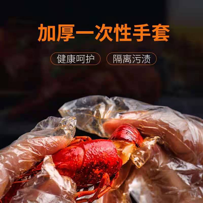 Transparent Thick Plastic Disposable Gloves for Restaurant Use