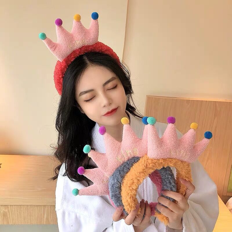 Adorable Plush Headband for Washing Your Face