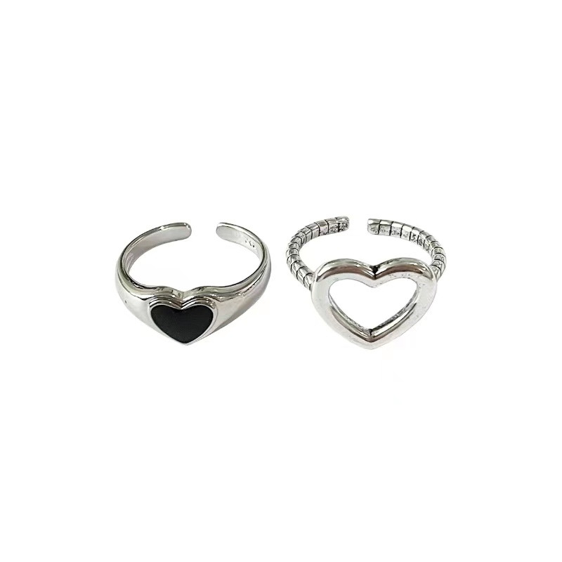 Stylish Adjustable Heart Ring for Casual Dates