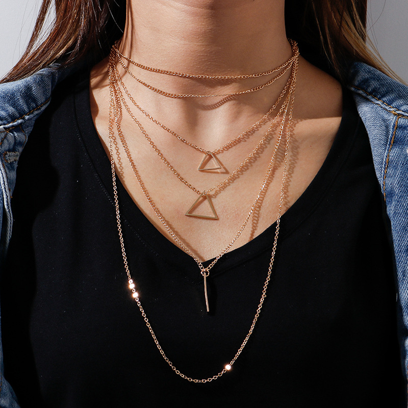 Trendy Multilayered Necklace for Elegant Fashion Jewelry