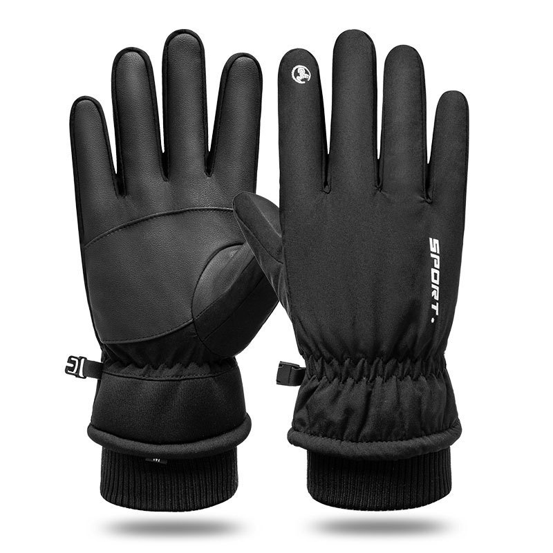 Simple Black Gloves for Winter Sports