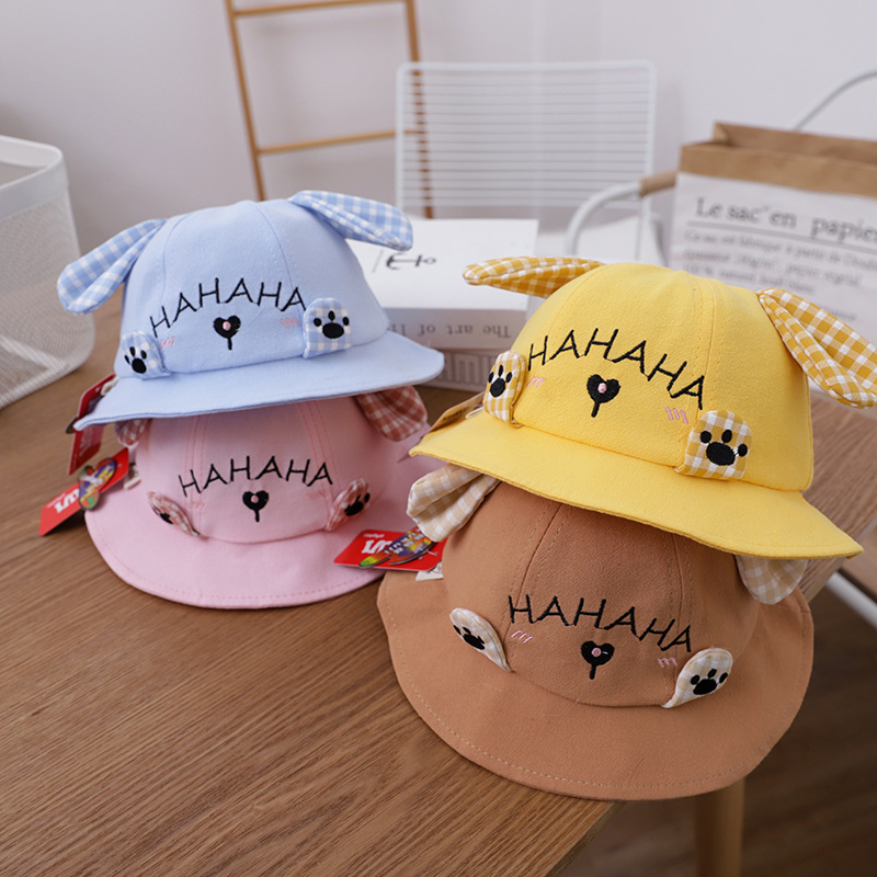 Cute Cartoon Puppies Sunshade Hat for Children