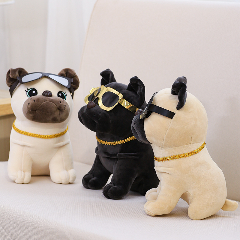 Adorable Dog Doll Toy with Glasses for Christmas Gift Ideas