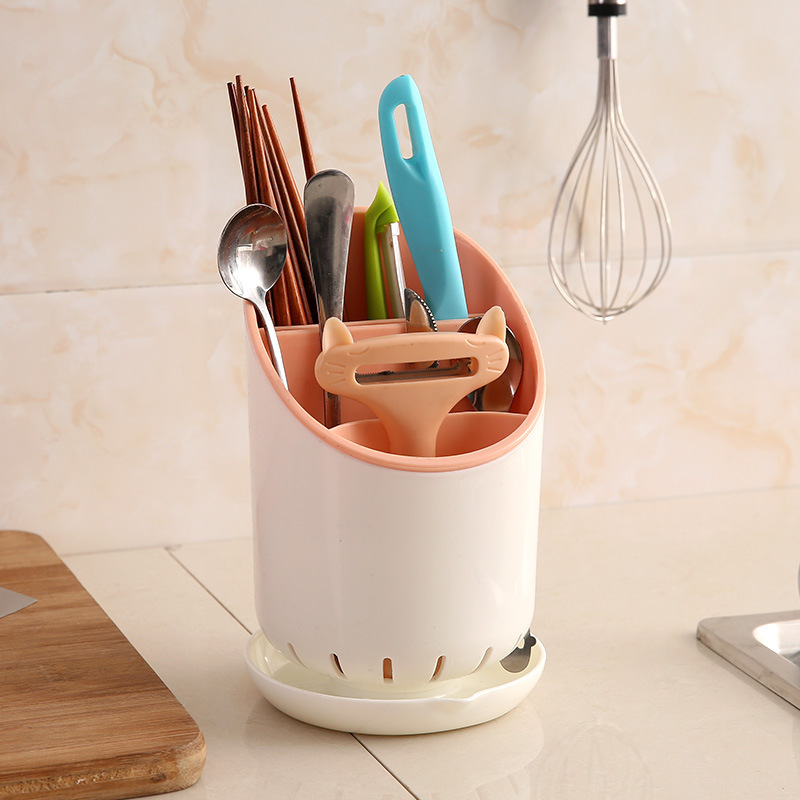 Homey Utensil Holder for Keeping Spoons, Forks, and Chopsticks