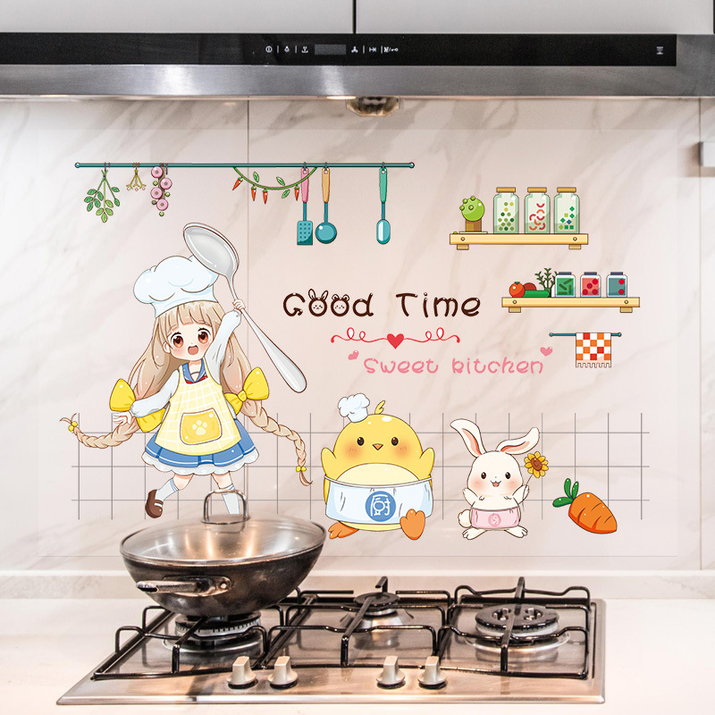 Adorable and Waterproof Kitchen Sticker for Home Needs