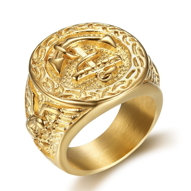 Antique Gold-Plated ring for Men