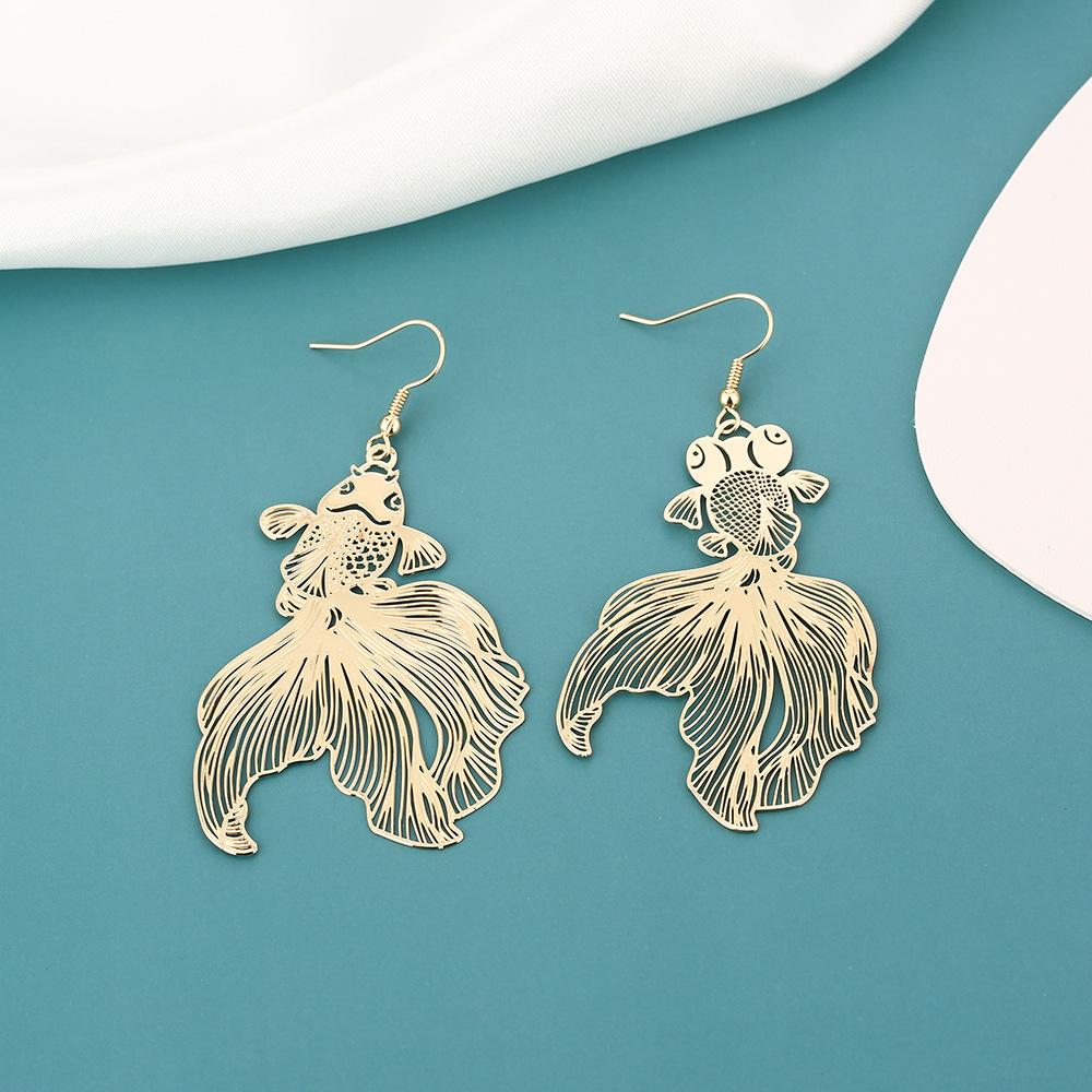 Goldfish Hook Earrings for Ladies