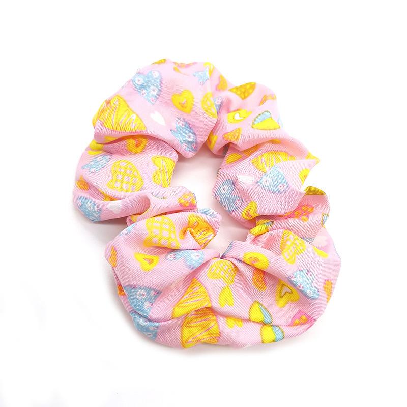 Soft Cloth Colorful Flexible Hair Ring Scrunchies for Hair Fashion