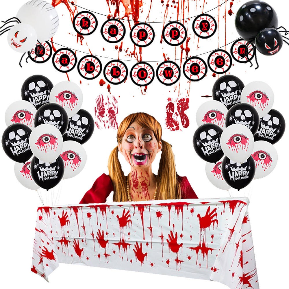 Creepy Halloween Decoration Set for Hosting Halloween Parties
