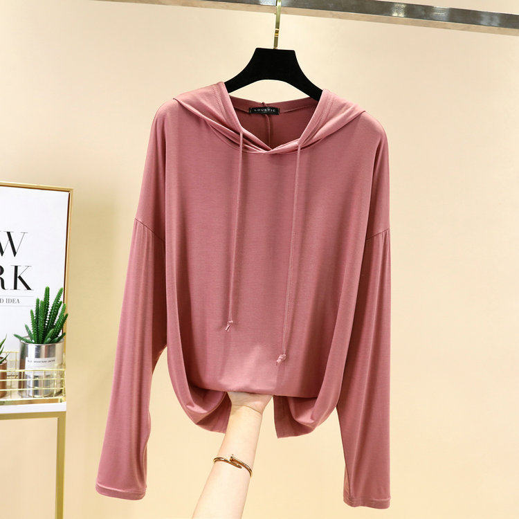 Loose Type Modal Hoodie for Summer Trips Outfits