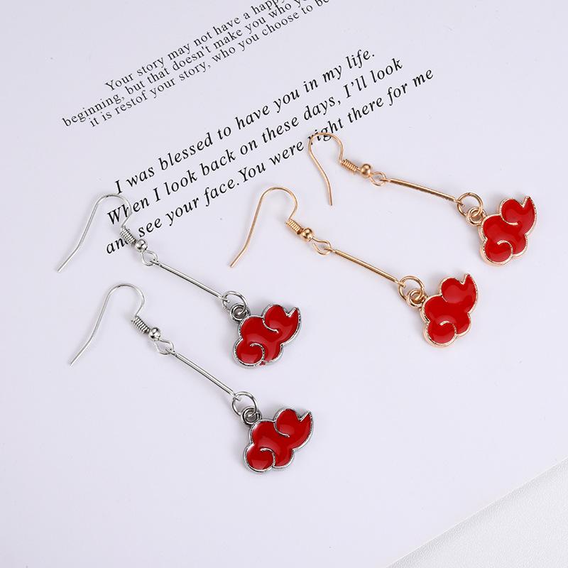 Chic Red Cloud Earrings For Cutesy Preppy Look