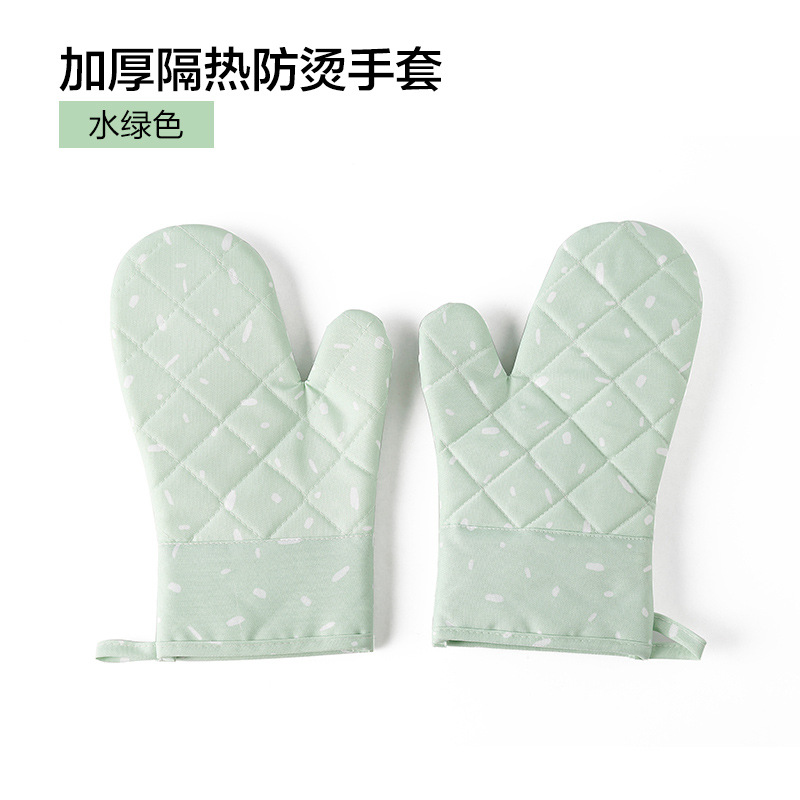 Heatproof Anti-Slip Mittens for Safe Oven Baking