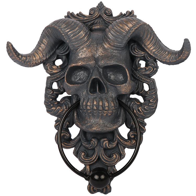 Unique Skull Door Knocker for Creative Door Decor