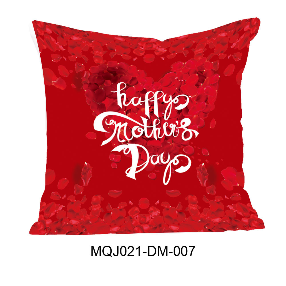 Happy Mother's Day Print Linen Pillowcase for Mother's Days Gifts