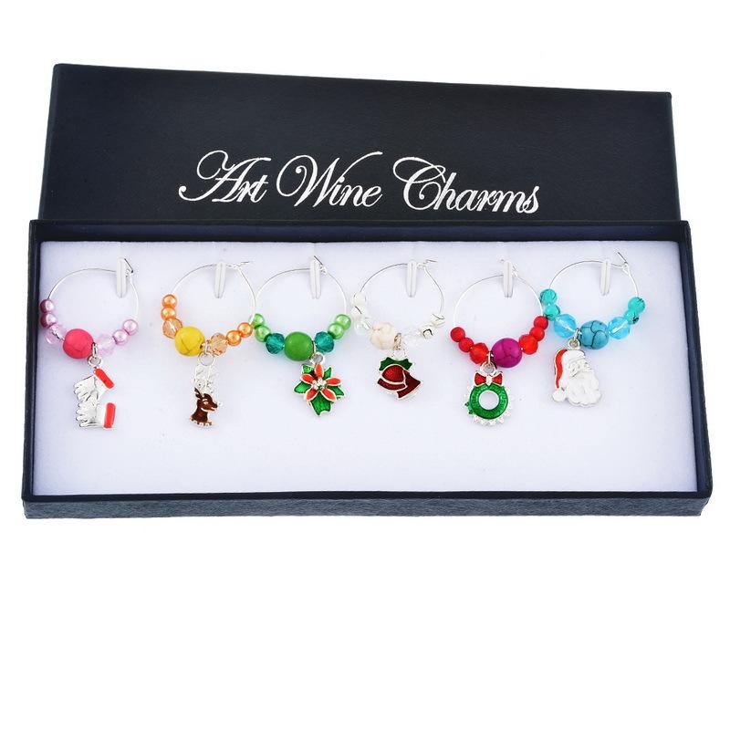 Splendid Christmas-Themed Pendant for Burgundy Glass Ornaments