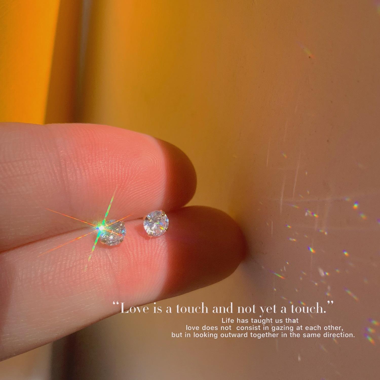 Luminous Crystal Glass Embedded Silver Earrings for Glamorous Styles