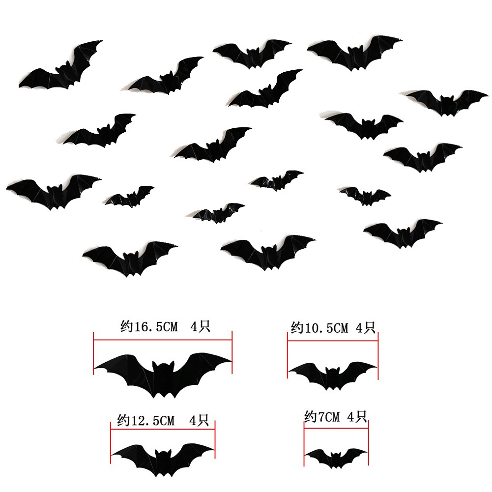 Creative Bat Wall Stickers for Halloween Parties