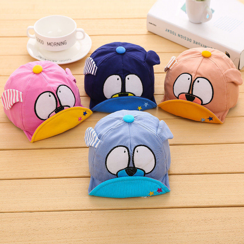Soft Brimmed Cute Cartoon Baseball Cap for Babies and Toddlers