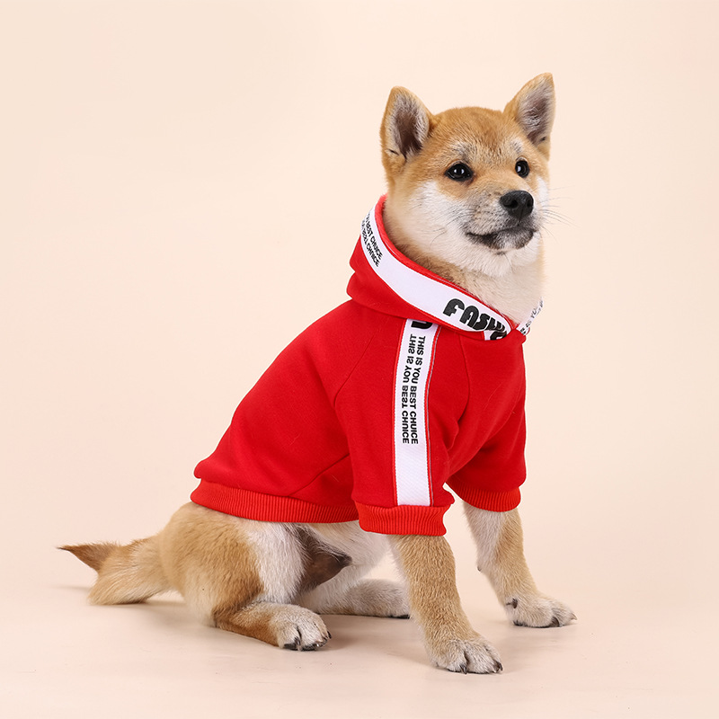 Cute Bright Red and Black Hoodie for Pets