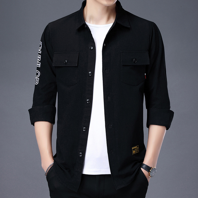 Casual Long-sleeved Shirt for Spring and Autumn Wear