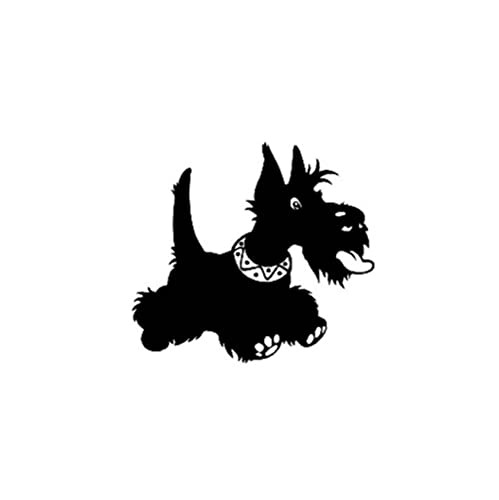 Minimalist Black Puppy Polyvinyl Chloride Window Sticker for Cars and Home