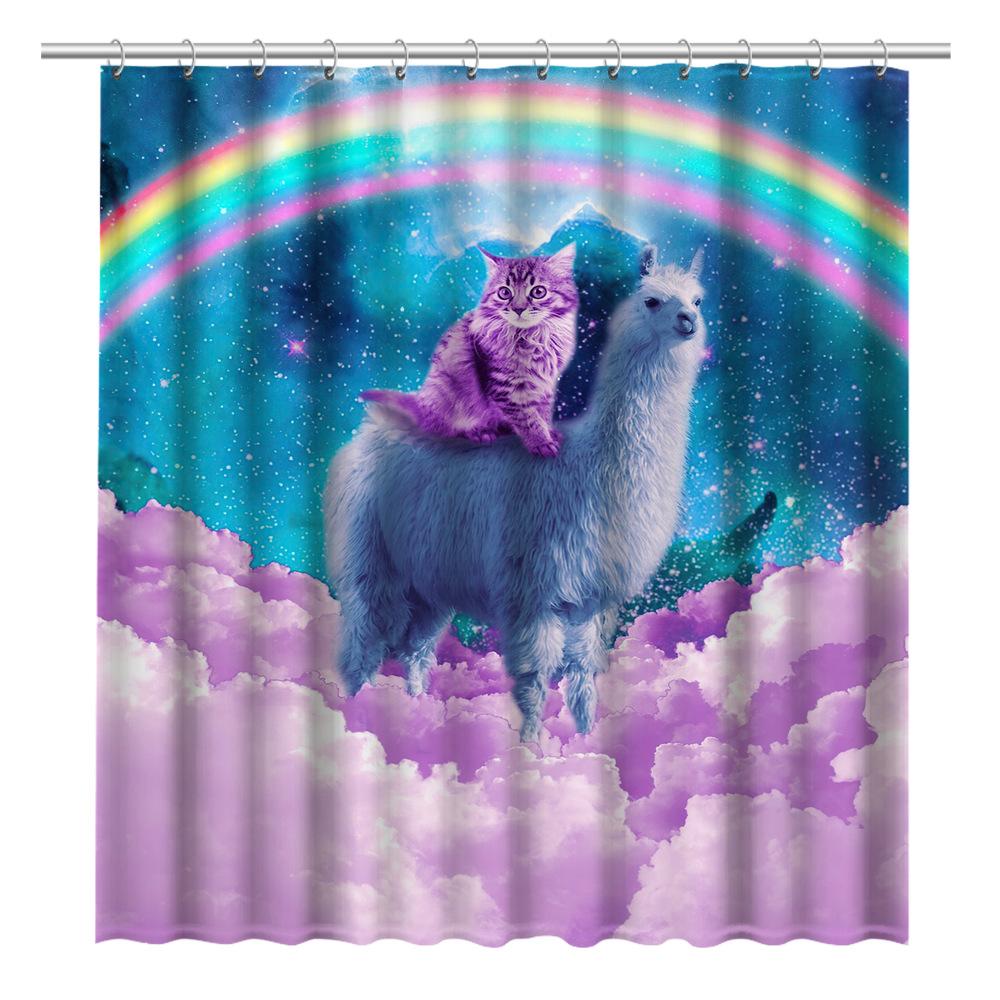 Quirky Animal Print Shower Curtain for Bathroom Décor