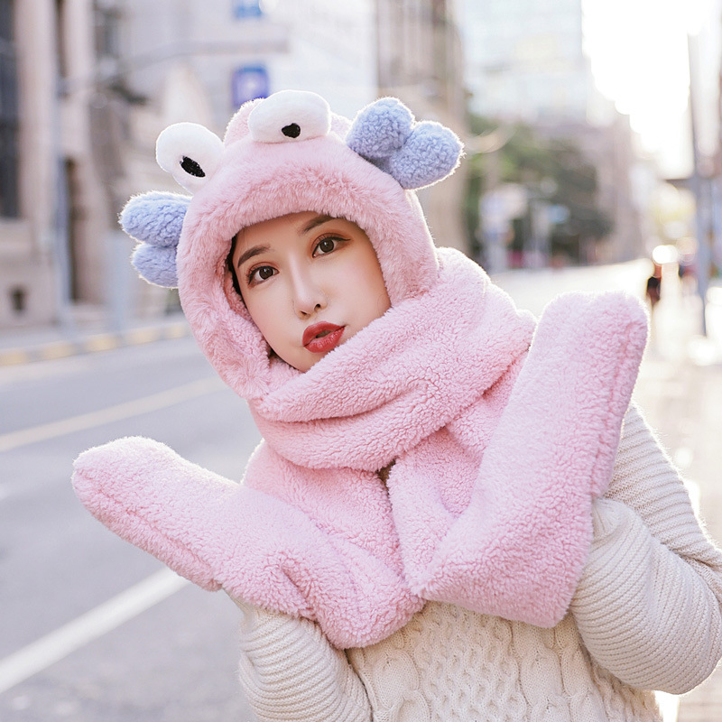 Adorable Animal Plush Neck Scarves for High School Students