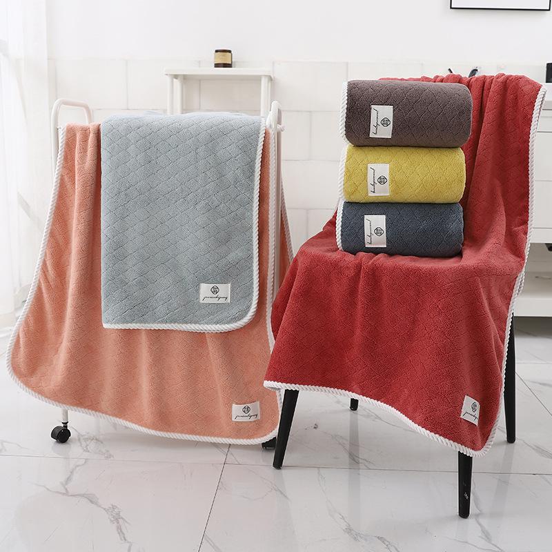 Velvet-Looking Coral Fleece Bath Towel for Exchange Gifts