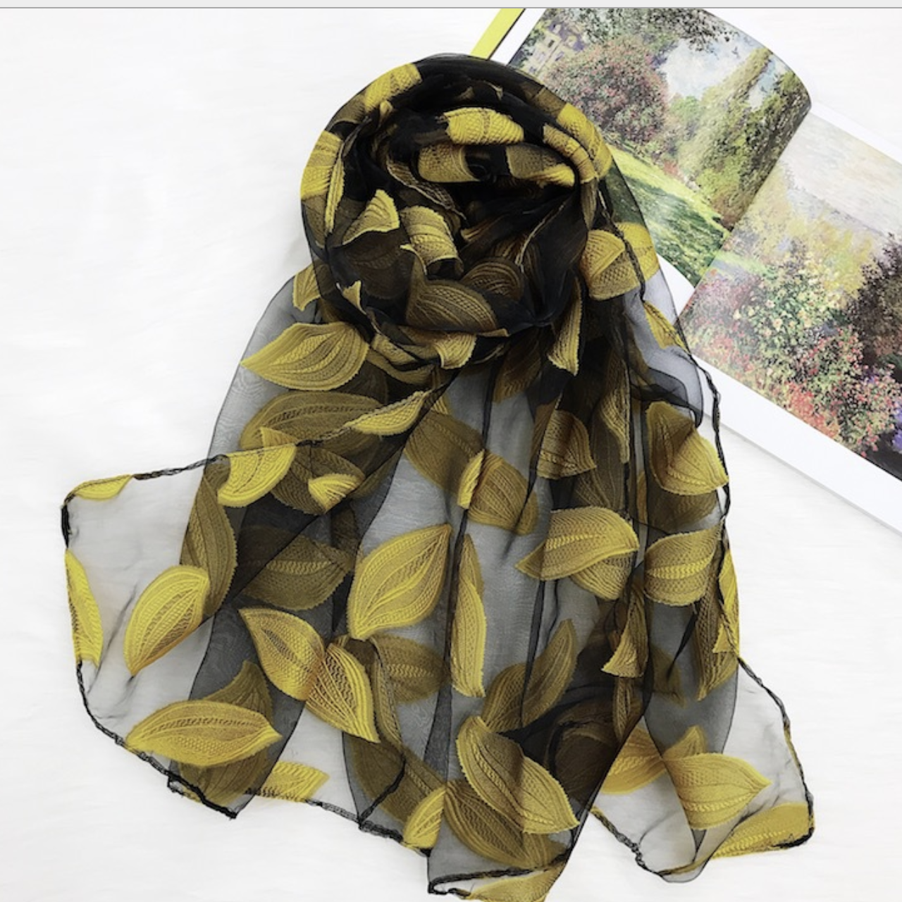 Golden Autumn Scarf