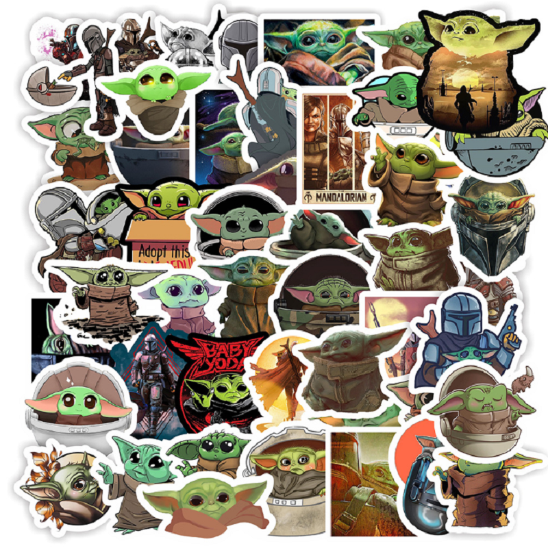 Baby Yoda Sticker 50 Pack