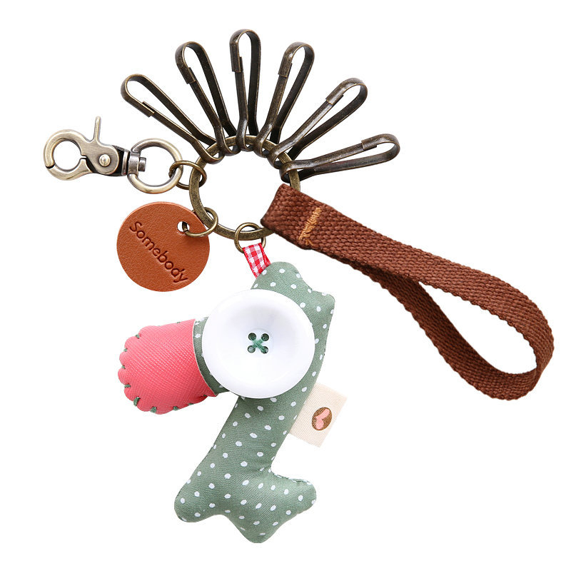 Raggedy Horse Keychain Charm and Wristlet