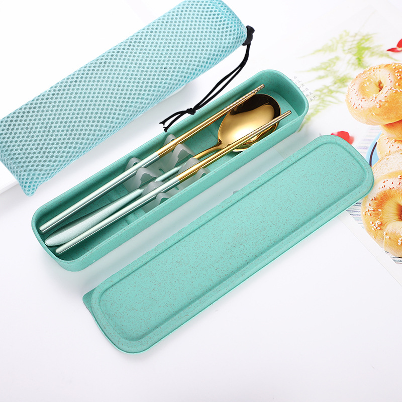 Travel-Friendly Cutlery Pack (4 Pieces/Set)