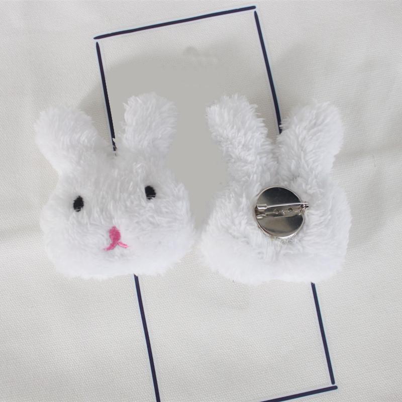 Plush Rabbit and Bear Pin