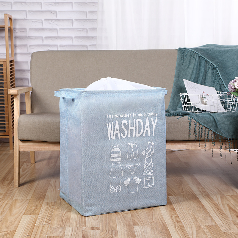 Minimalist Foldable Cloth Laundry Basket for Home Use