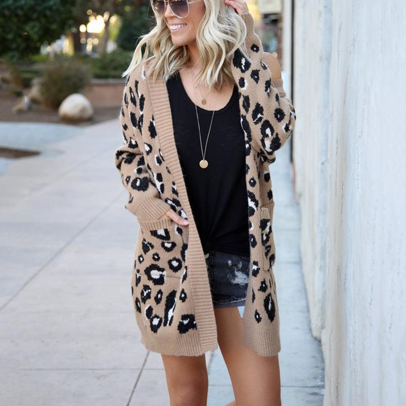 Fabulous Leopard Printed Sweater Cardigan for Winter Wear
