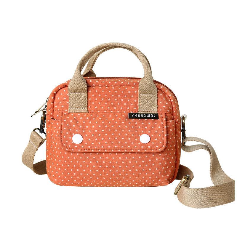 Polka Dots Canvas Sling Bag