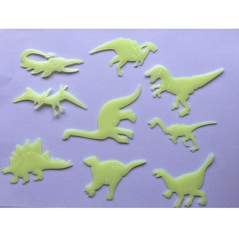 Luminous Dinosaur Bedroom Wall Sticker (9 Pieces/Set)