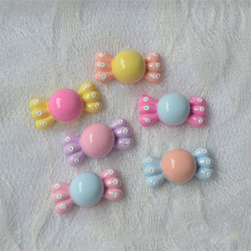 Colorful Candies Beads for DIY Kids Hair Clips