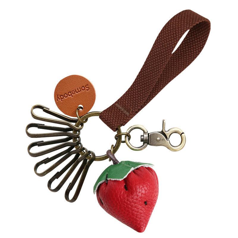 Strawberry Wristlet Keychain Charm
