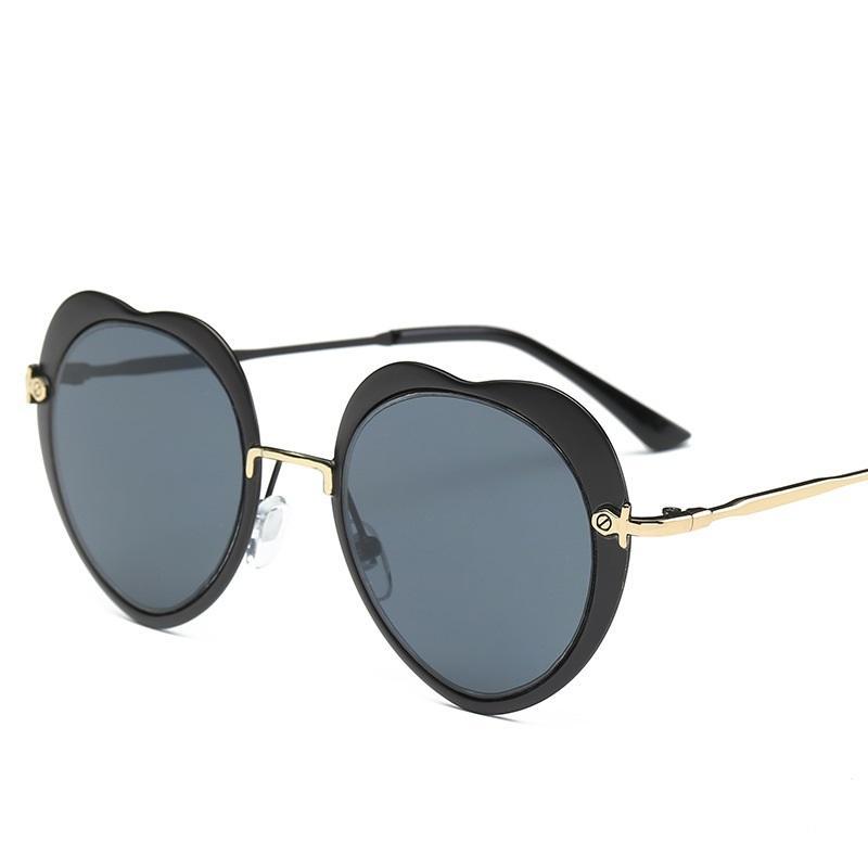 Peach Heart Shaped Sunglasses